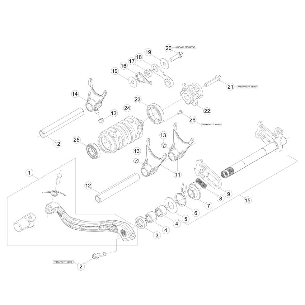 Beta RR300 15 Schaltung im Motocross Enduro Shop MXC GmbH