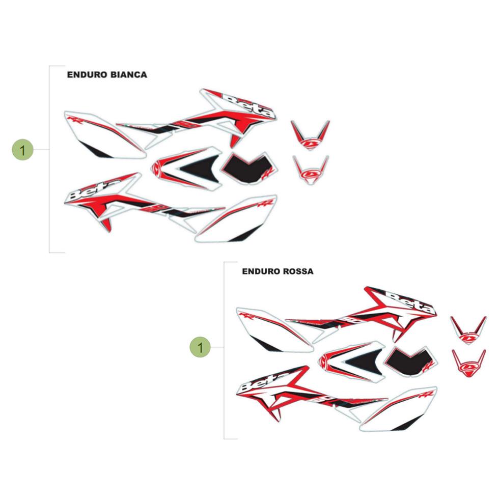 beta rr50 15 verkleidung sitzbank tank 2 im motocross. Black Bedroom Furniture Sets. Home Design Ideas