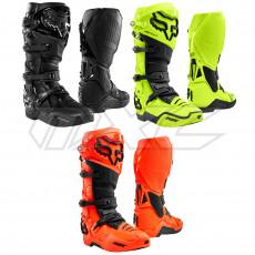 FOX COMP 5 Motocross Enduro Stiefel boots blau rot Enduro MX