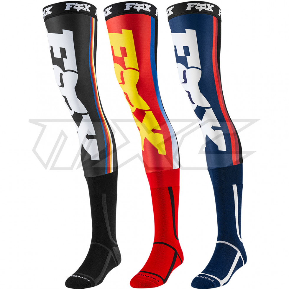 Fox Linc Knee Brace Sock Red//Yellow