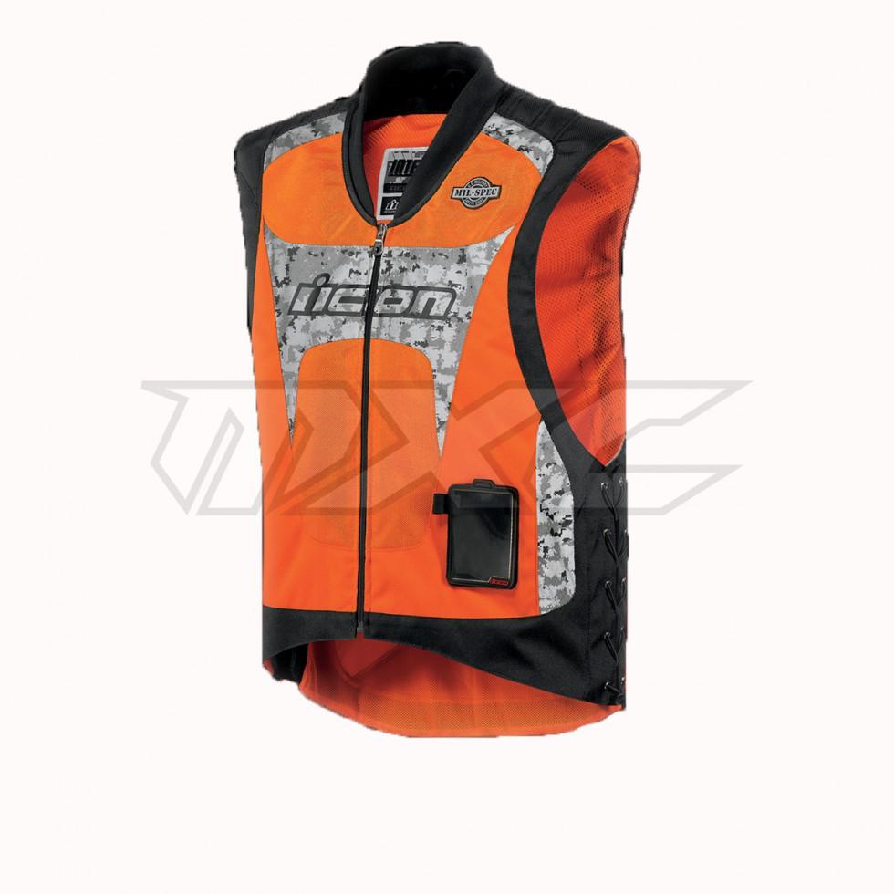 ICON Men's Interceptor Milspec Vest Warnweste Sicherheitsweste orange XXL/XXXL